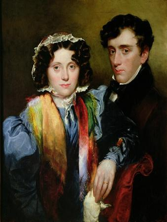 John Gibson Lockhart and His Wife, Charlotte Sophia Scott (Posthumous Likeness) after 1838