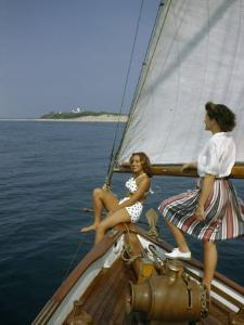 American Women Sail Off of the Coast of Massachusetts by Robert Sisson