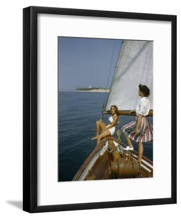 American Women Sail Off of the Coast of Massachusetts