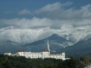 Cloud-Shrouded Mount Washington Frames Mount Washington Hotel by Robert Sisson