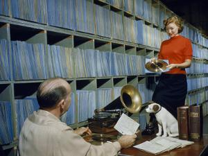 People Work in Rca Victor's Vault of Master Recordings by Robert Sisson