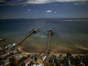 View of Provincetown's Waterfront from Pilgrim Monument by Robert Sisson