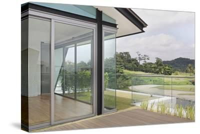 Exterior Balcony with of Golf Course in Residential House on Sentosa Island