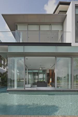 View into Residential House on Sentosa Island, Singapore, South East Asia