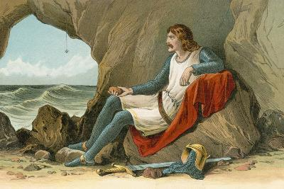 Robert the Bruce and the Spider-English School-Giclee Print