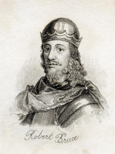 Robert the Bruce, from 'Crabb's Historical Dictionary', Published 1825--Giclee Print