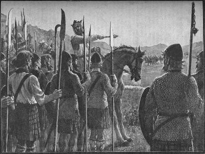Robert the Bruce Reviewing His Troops before the Battle of Bannockburn, 1314-EBL-Giclee Print