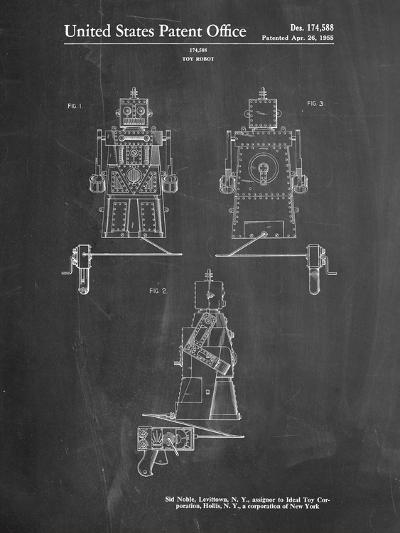 Robert the Robot 1955 Toy Robot Patent-Cole Borders-Art Print