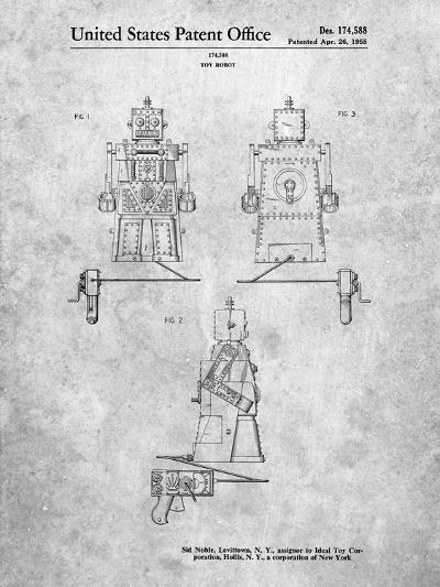 Robert the Robot 1955 Toy Robot Patent-Cole Borders-Art Print