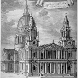 St Paul's Cathedral, City of London, C1715 by Robert Trevitt