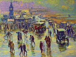 Brighton on a Rainy Day by Robert Tyndall