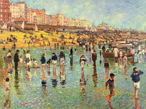 Passing Time on Brighton Beach by Robert Tyndall