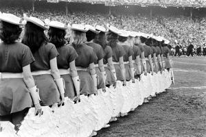 Cotton Bowl Cheerleaders by Robert W. Kelley