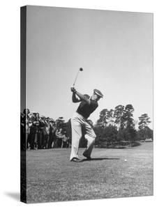 Gene Sarazen in Swinging Motion by Robert W. Kelley