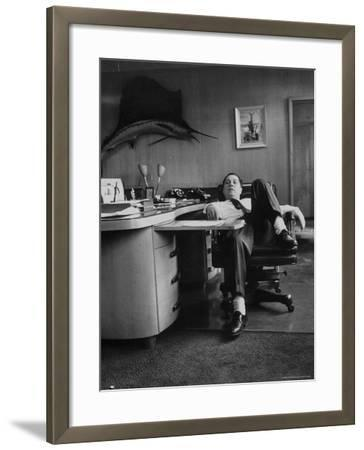 James R. Hoffa Slumped in Chair Teamsters Office