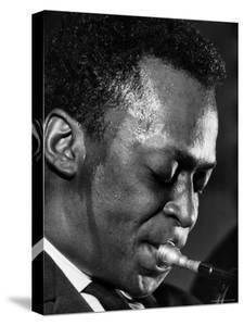 Jazz Musician Miles Davis Performing by Robert W. Kelley
