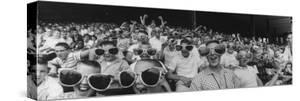 Newsboys Wearing Super Specs Watching Baseball Game by Robert W. Kelley