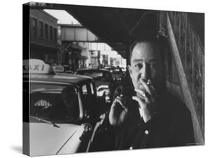 Poet Langston Hughes in Harlem by Robert W. Kelley