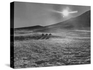 Sunset over Wintry Montana Landscape by Robert W. Kelley