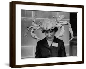 Woman Wearing a Crab Hat at the League of Women Voter's Convention by Robert W. Kelley