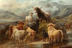 Highland Cattle, 1894 by Robert Watson