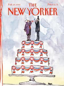 The New Yorker Cover - February 19, 1990 by Robert Weber
