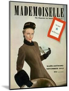 Mademoiselle Cover - November 1942 by Robert Weitzen