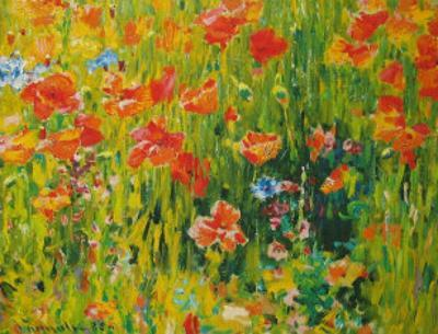 Poppies, 1888 by Robert William Vonnoh