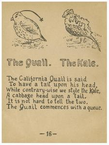 The Quail. The Kale. by Robert Williams Wood