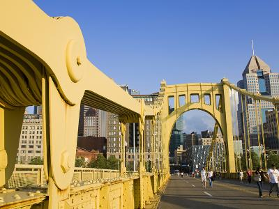Roberto Clemente Bridge (6th Street Bridge) over the Allegheny River, Pittsburgh, Pennsylvania, Uni-Richard Cummins-Photographic Print