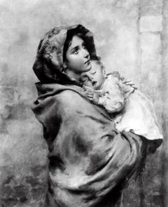 Madonnina, Roberto Ferruzzi, Private Collection, Florence by Roberto Ferruzzi