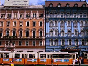 Blaha Luijza Square with Hotel Mercure on Right, Budapest, Pest, Hungary, by Roberto Gerometta
