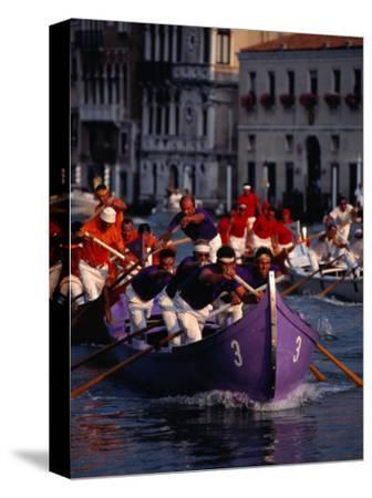 Caorline Regatta During Historiccal Regatta Pageant in Grand Canal, Venice, Veneto, Italy