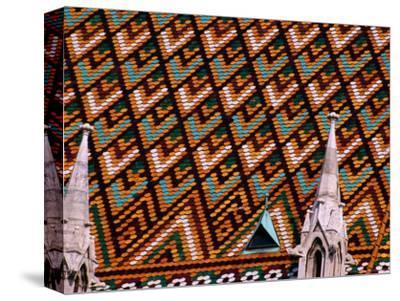Detail of Roof of Matthias Church, Budapest, Pest, Hungary,