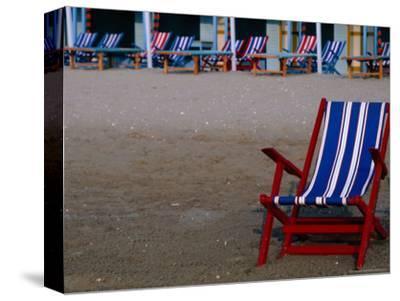 Empty Deckchairs on Beach, the Lido, Veneto, Italy