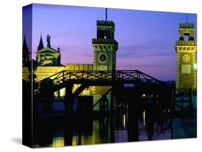 Entrance Towers of Arsenale, Venice, Veneto, Italy