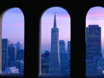 Financial District from Coit Tower, San Francisco, California, USA