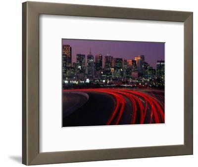 Freeway 280 and Skyline at Sunset, San Francisco, California, USA