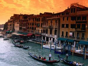 Grand Canal and Riva Del Vin, Venice, Veneto, Italy by Roberto Gerometta