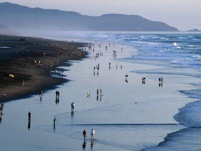 Ocean Beach at Dusk, San Francisco, California, USA