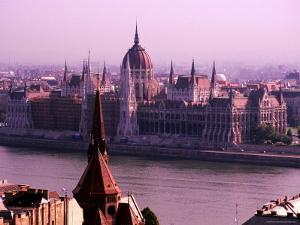 Parliament from Castle District, Budapest, Pest, Hungary by Roberto Gerometta