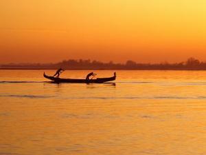 Rowing on the Lagoon, Venice, Veneto, Italy by Roberto Gerometta