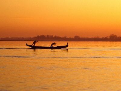 Rowing on the Lagoon, Venice, Veneto, Italy
