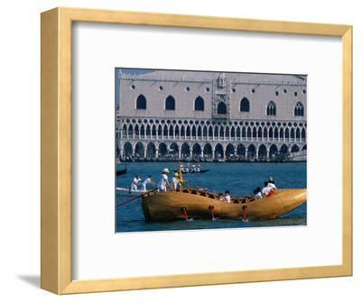 Shoe-Shaped Boat at Start of Vogalonga Rowing Marathon, Venice, Veneto, Italy