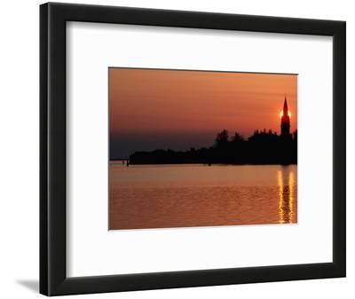 Sunset Over Poveglia Island and the Lagoon, Venice, Veneto, Italy