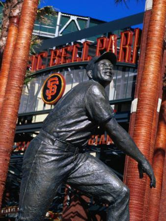 Willie Mayes Statue at Pacific Bell Park, San Francisco, California, USA
