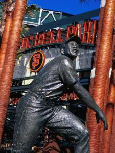 Willie Mayes Statue at Pacific Bell Park, San Francisco, California, USA by Roberto Gerometta