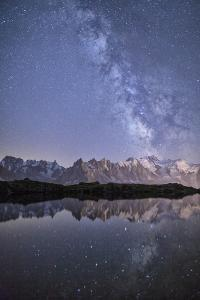 A Sharp Milky Way on a Starry Night at Lac Des Cheserys with Mont Blanc's Highest Peak by Roberto Moiola