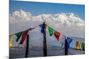Colored Prayer Flags Flutter in Front of the Majestic Kanchenjunga by Roberto Moiola