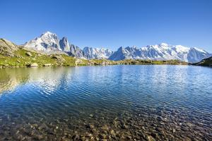 Mont Blanc from Lac Des Cheserys, Haute Savoie. French Alps, France by Roberto Moiola
